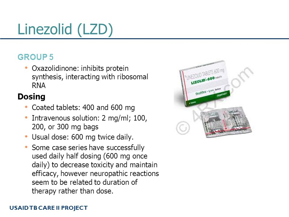 Linezolid (LZD) Group 5 Dosing