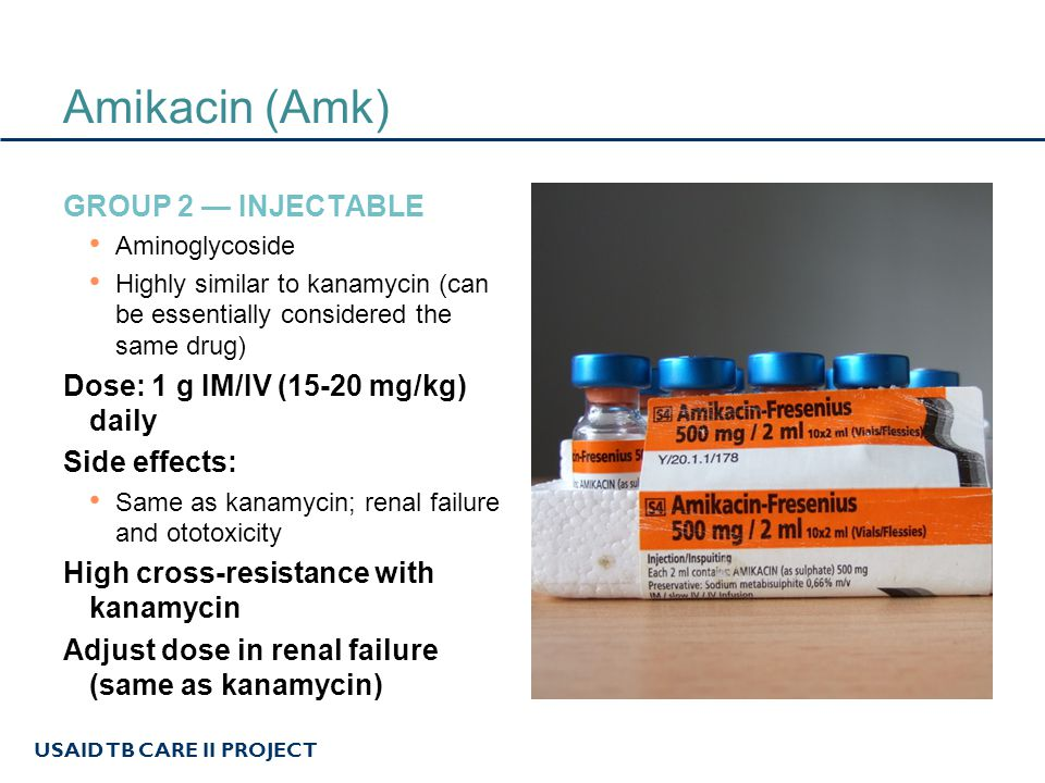 Amikacin (Amk) Group 2 — Injectable
