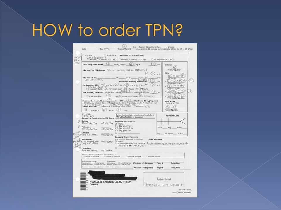 HOW to order TPN