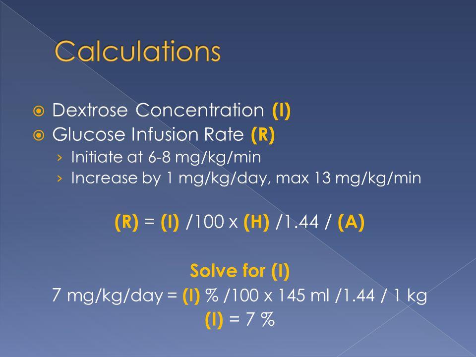 7 mg/kg/day = (I) % /100 x 145 ml /1.44 / 1 kg