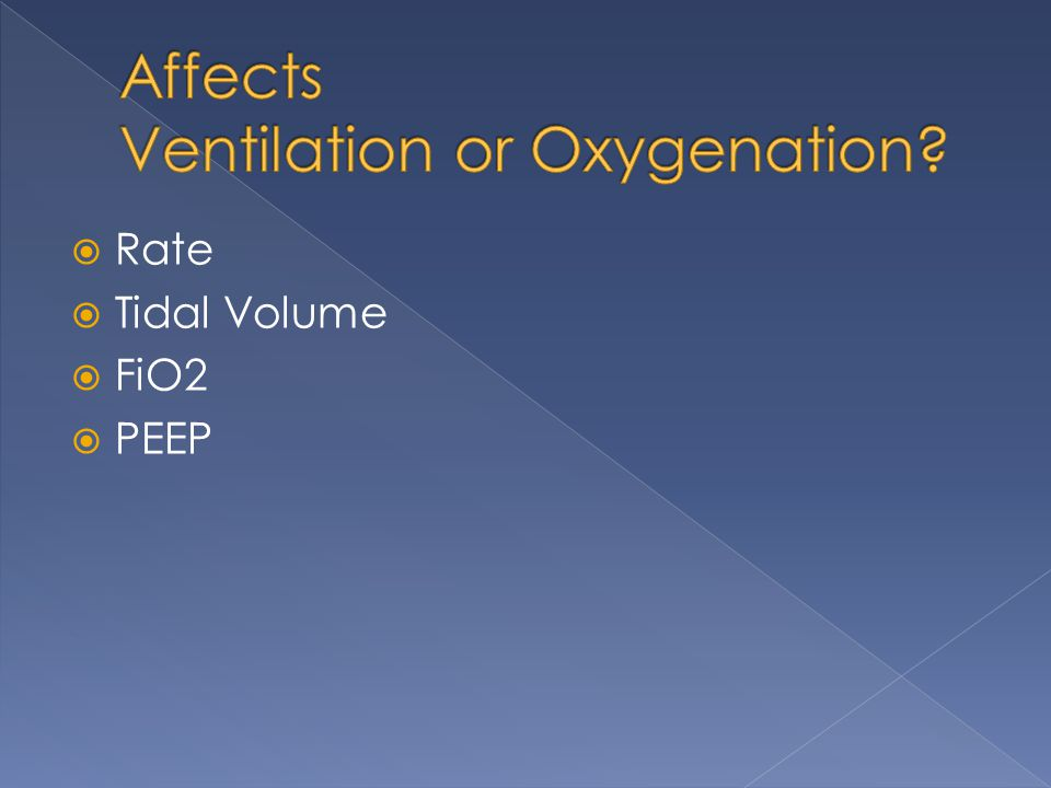 Affects Ventilation or Oxygenation