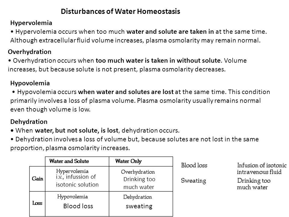 Disturbances of Water Homeostasis