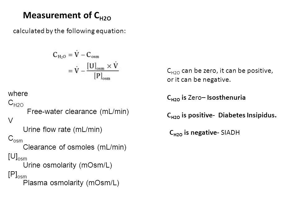 Measurement of CH2O calculated by the following equation: