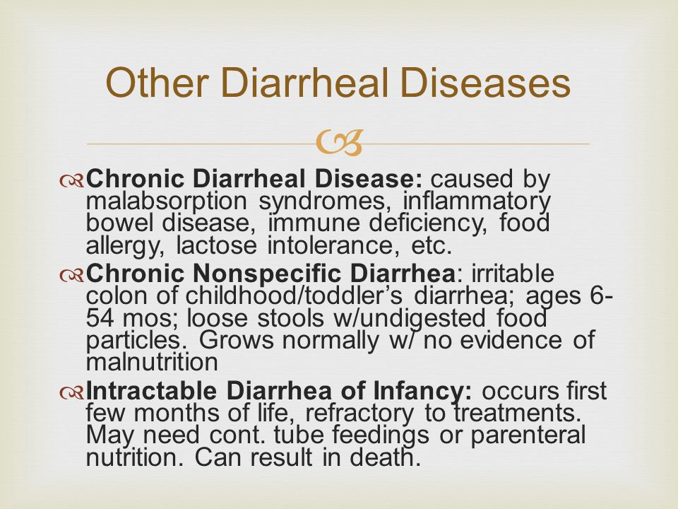 Other Diarrheal Diseases
