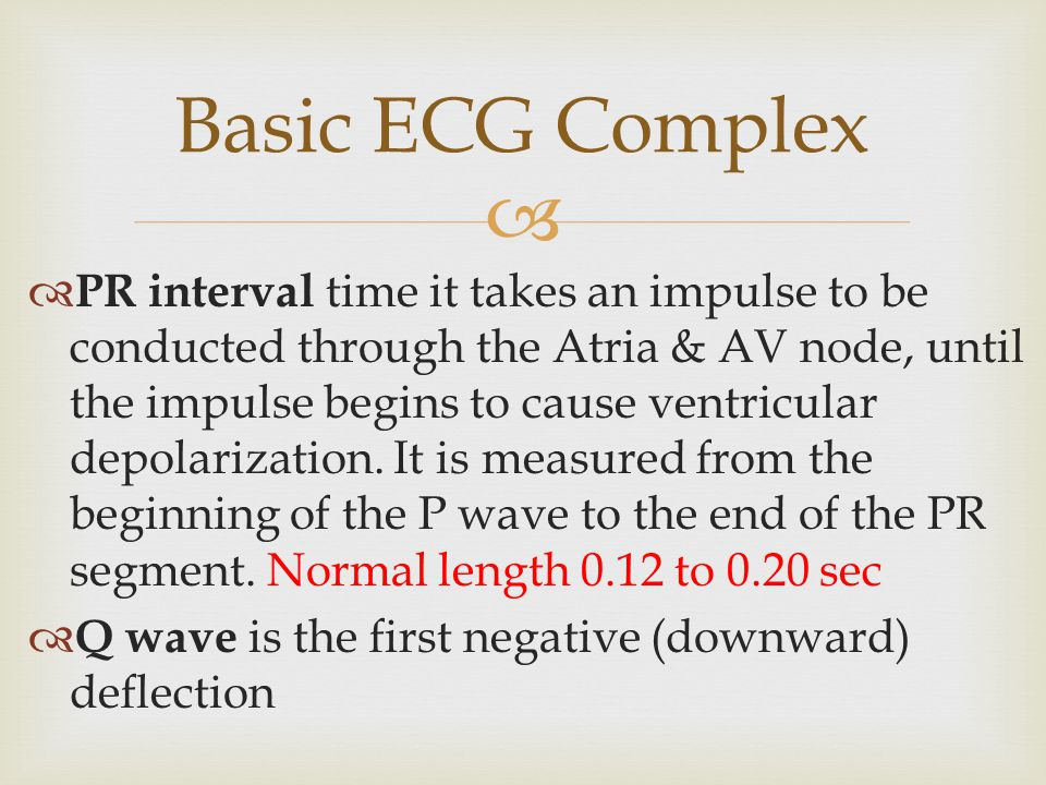 Basic ECG Complex