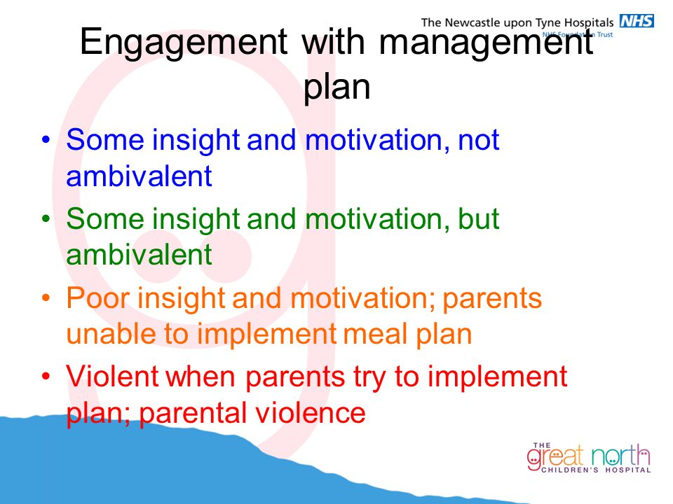 Engagement with management plan