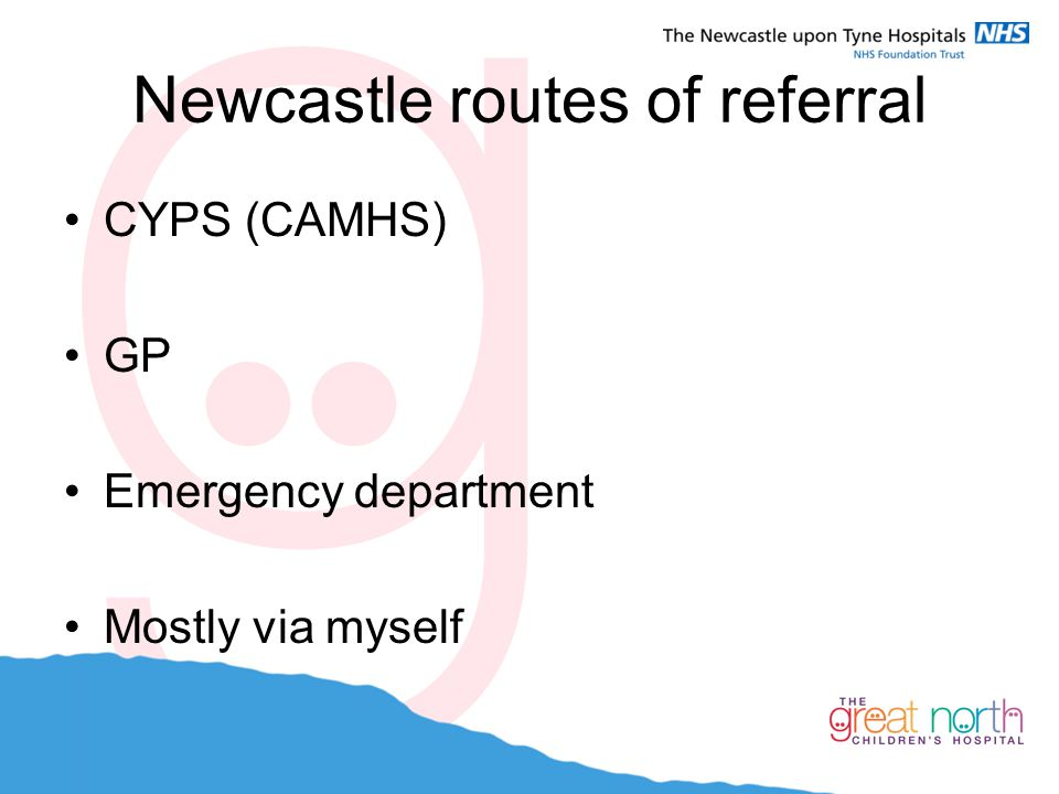 Newcastle routes of referral
