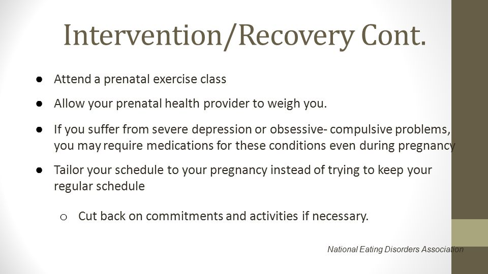 Intervention/Recovery Cont.