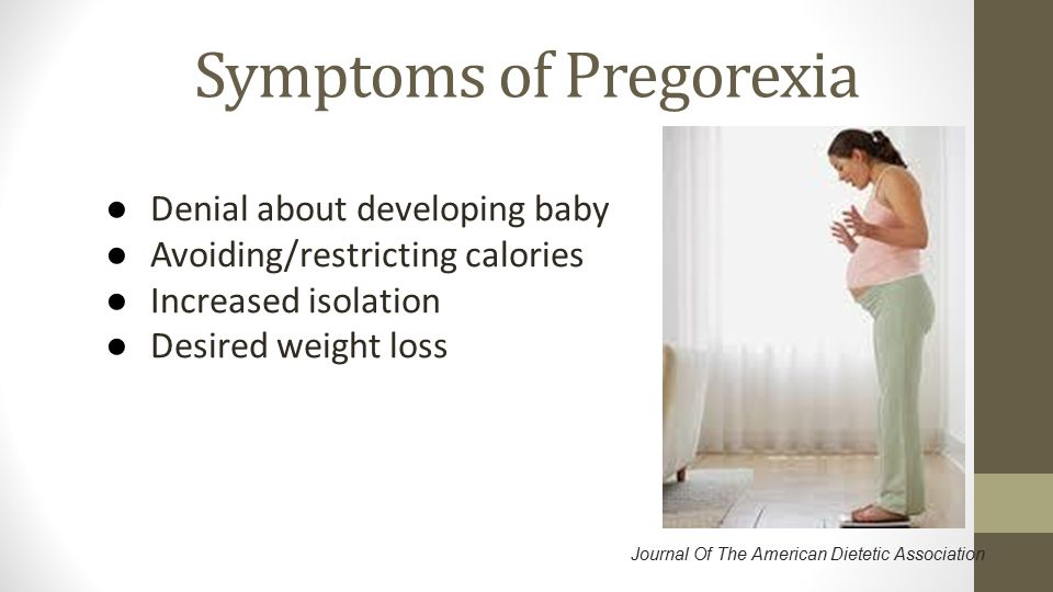 Symptoms of Pregorexia