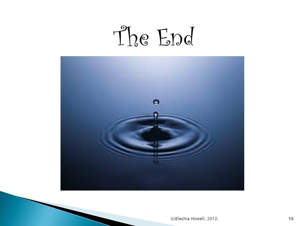 The End (c)Eleshia Howell, 2012.