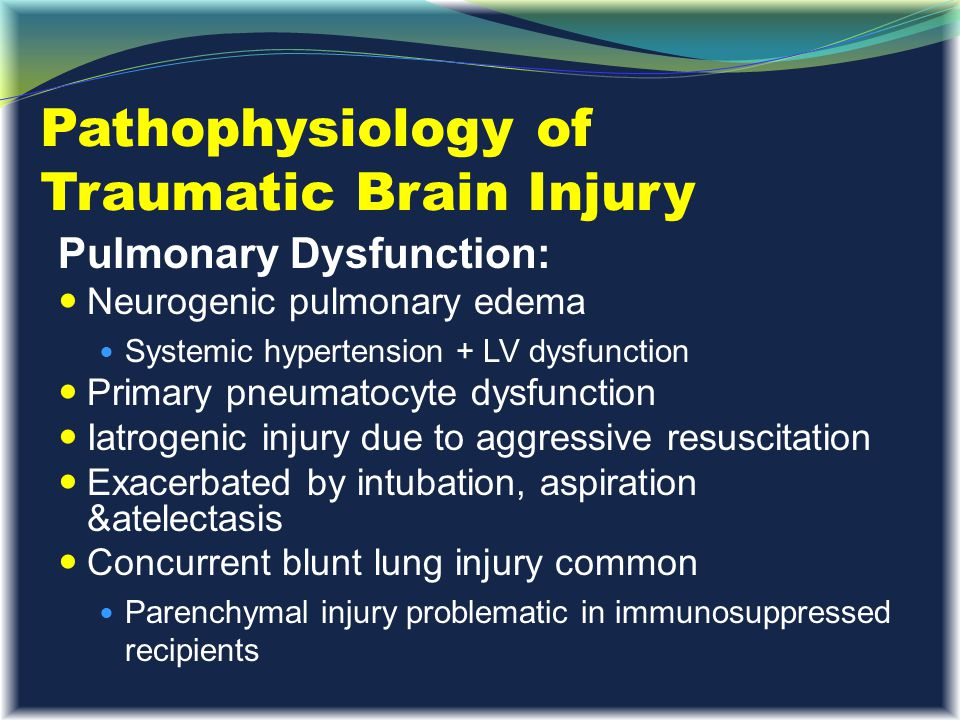 Pathophysiology of Traumatic Brain Injury