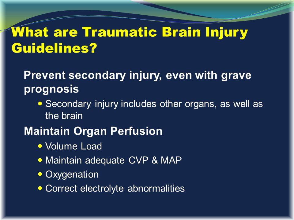 What are Traumatic Brain Injury Guidelines