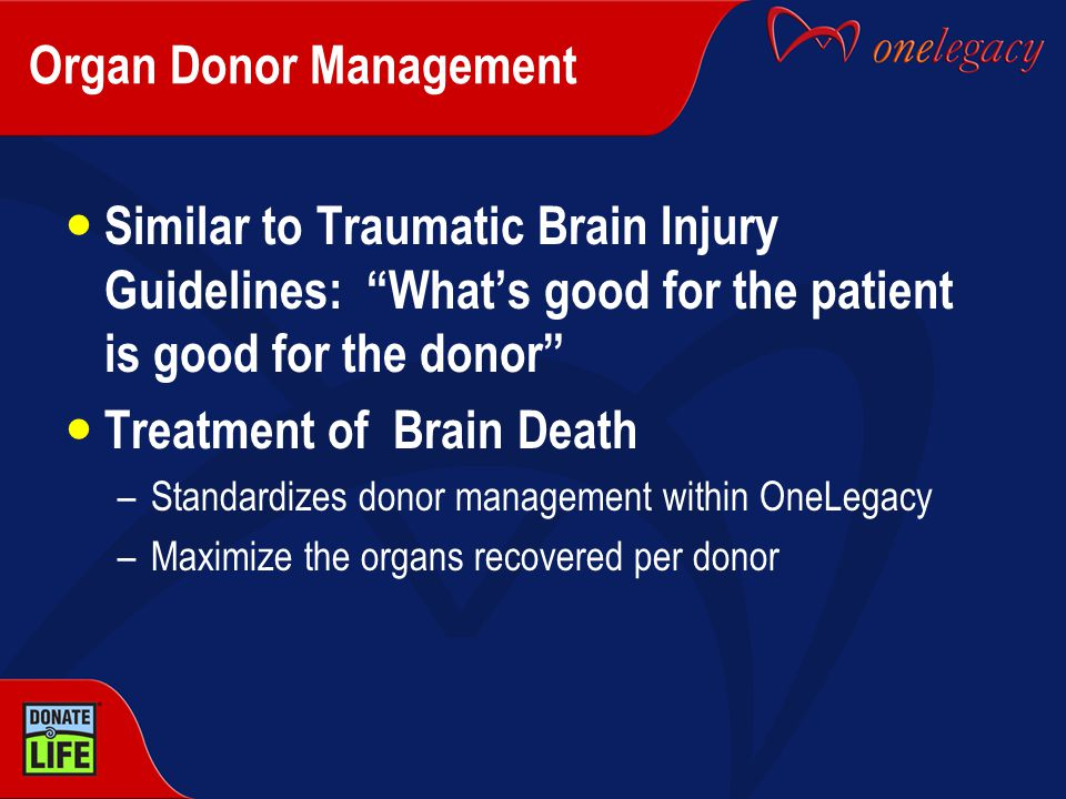 Organ Donor Management