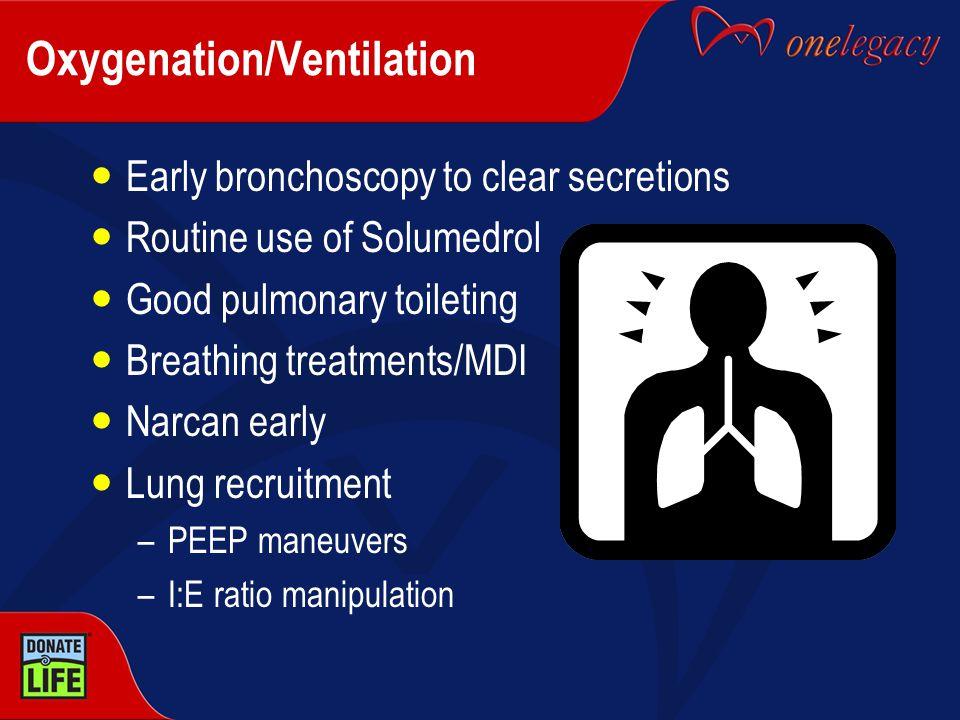 Oxygenation/Ventilation