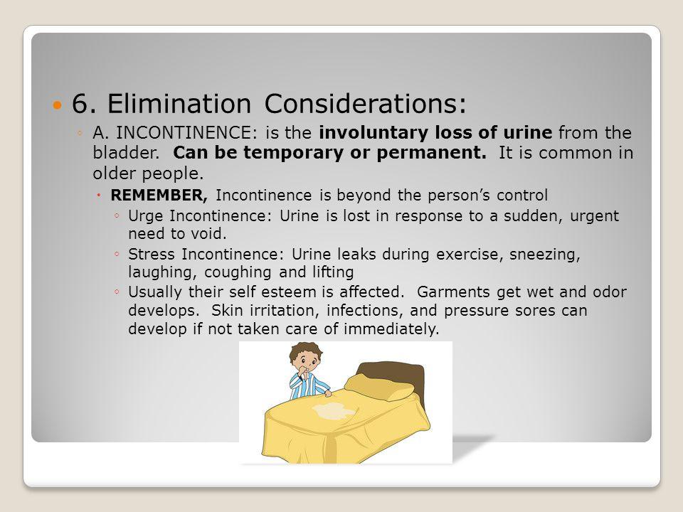 6. Elimination Considerations: