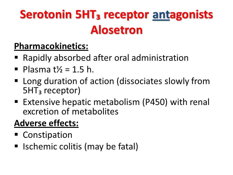 Serotonin 5HT₃ receptor antagonists Alosetron