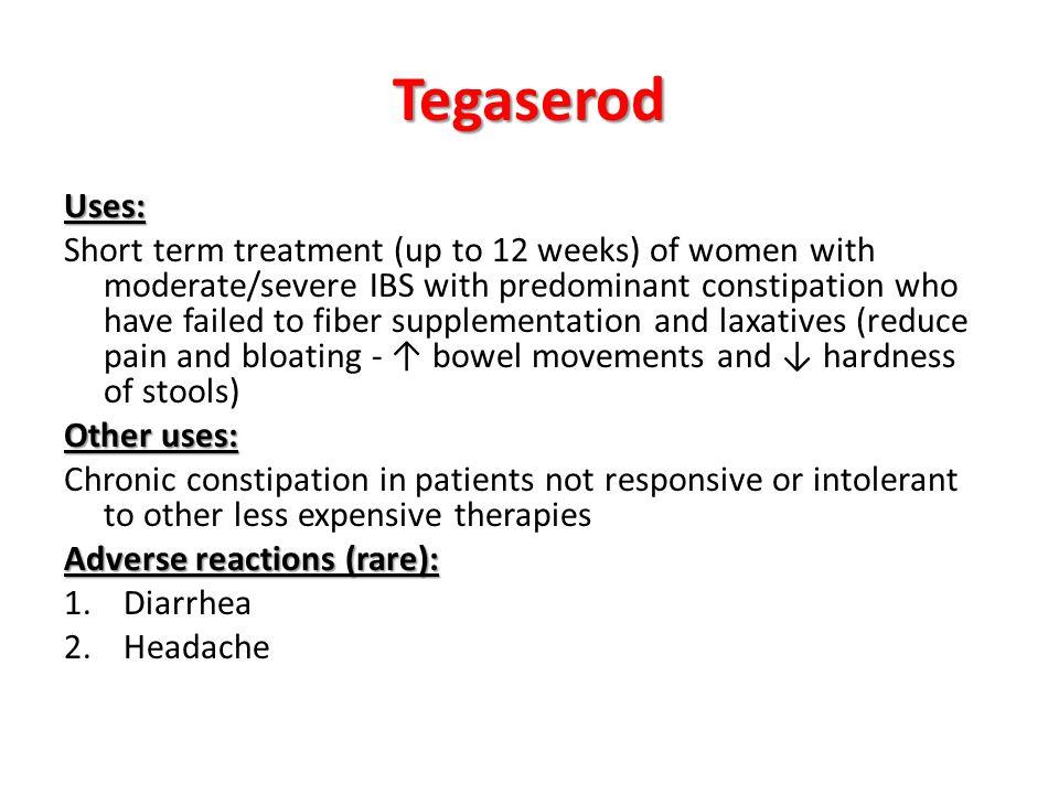 Tegaserod Uses: