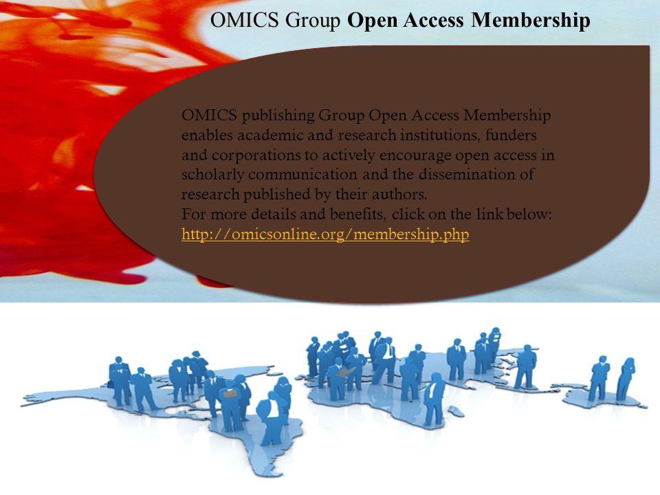 OMICS Group Open Access Membership