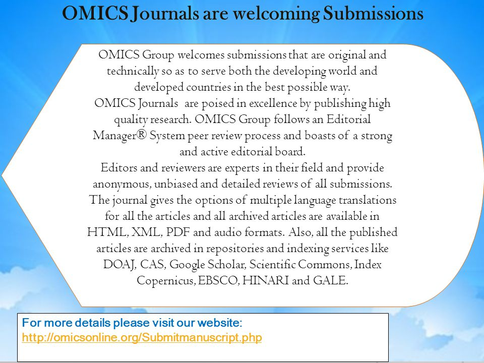 OMICS Journals are welcoming Submissions