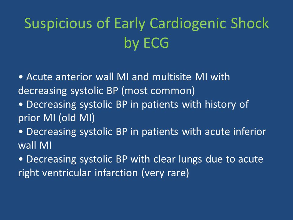 Suspicious of Early Cardiogenic Shock by ECG