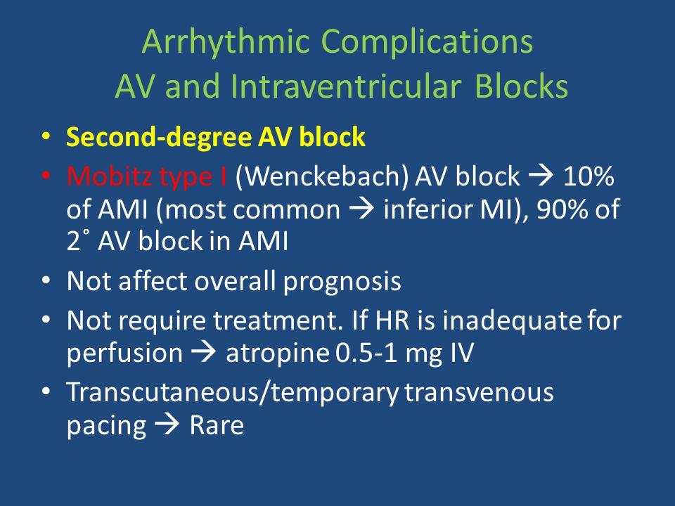 Arrhythmic Complications AV and Intraventricular Blocks