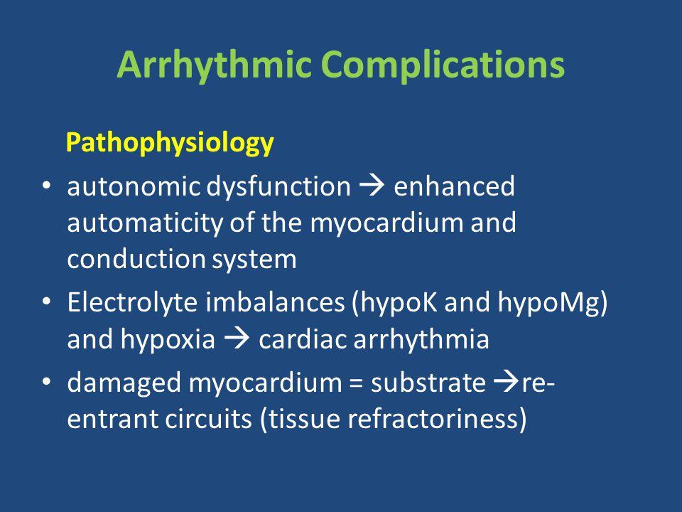 Arrhythmic Complications