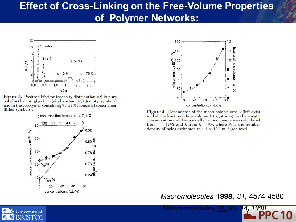 Effect of Cross-Linking on the Free-Volume Properties of Polymer Networks: