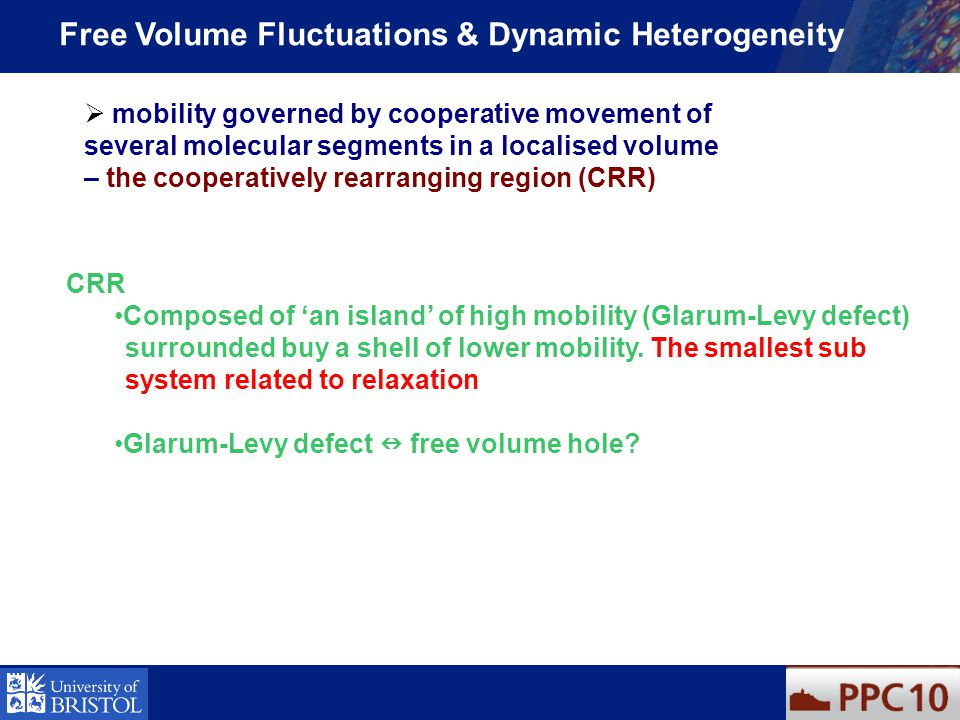Free Volume Fluctuations & Dynamic Heterogeneity