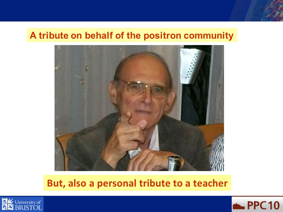But, also a personal tribute to a teacher