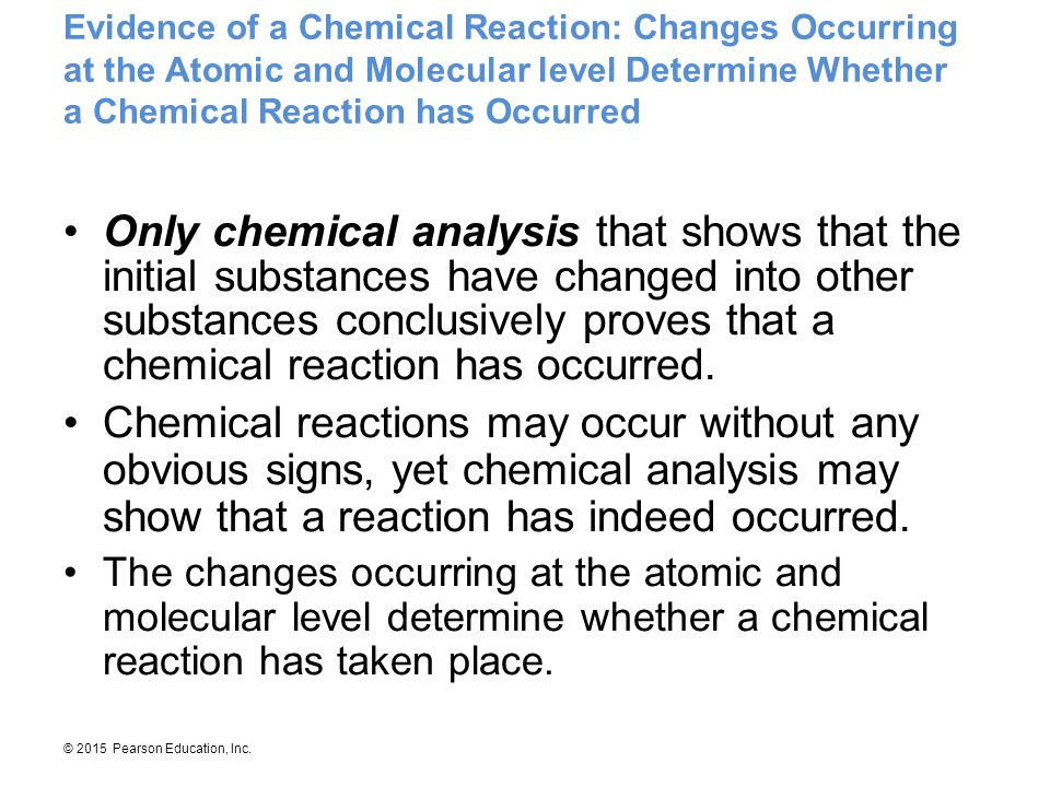 chemical change analysis In a chemical reaction, there is a change in the composition of the when bonds are broken and new ones are formed a chemical change qualitative analysis.