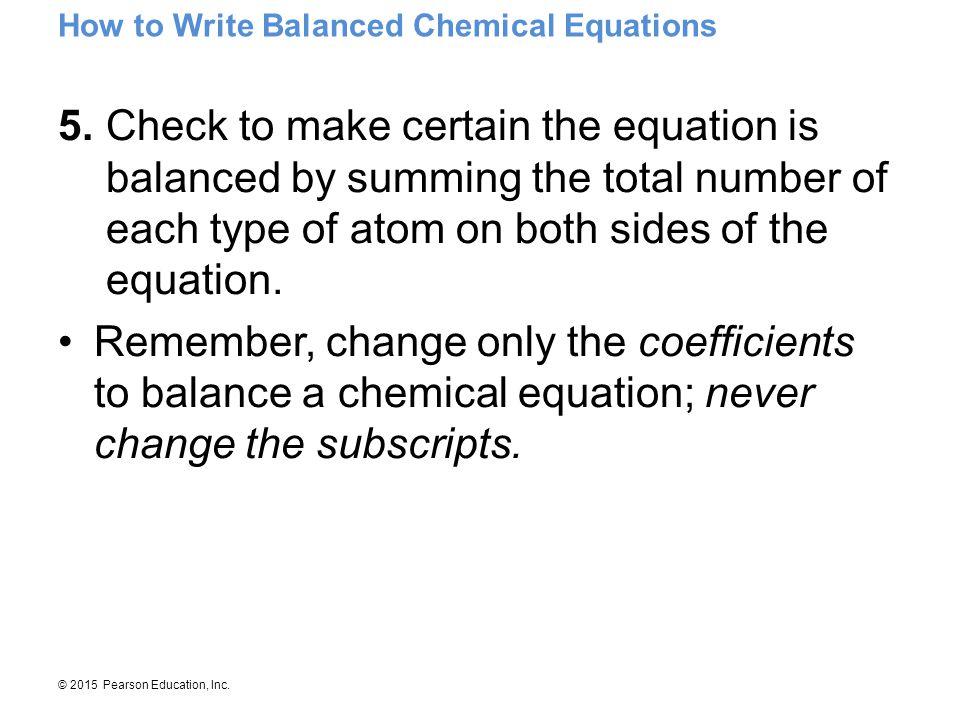 How to Write Balanced Chemical Equations