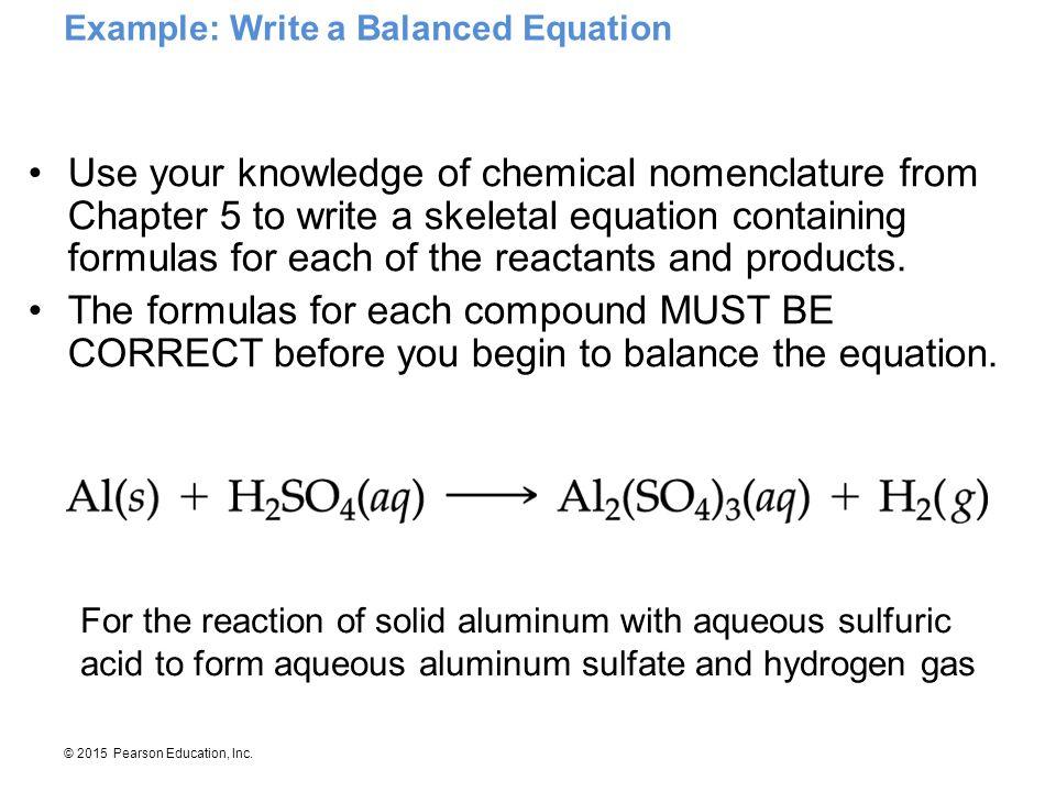 Example: Write a Balanced Equation