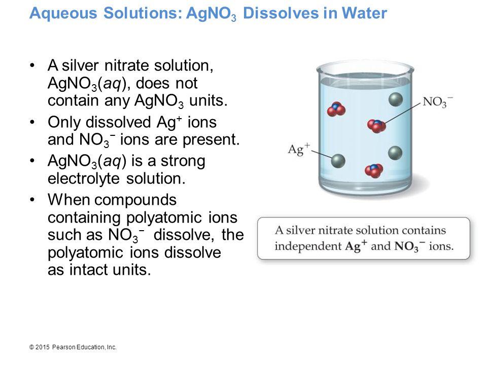 Aqueous Solutions: AgNO3 Dissolves in Water