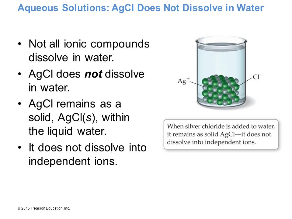 Aqueous Solutions: AgCl Does Not Dissolve in Water