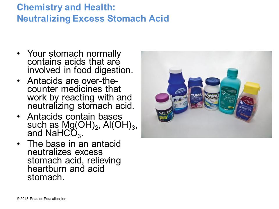 Chemistry and Health: Neutralizing Excess Stomach Acid