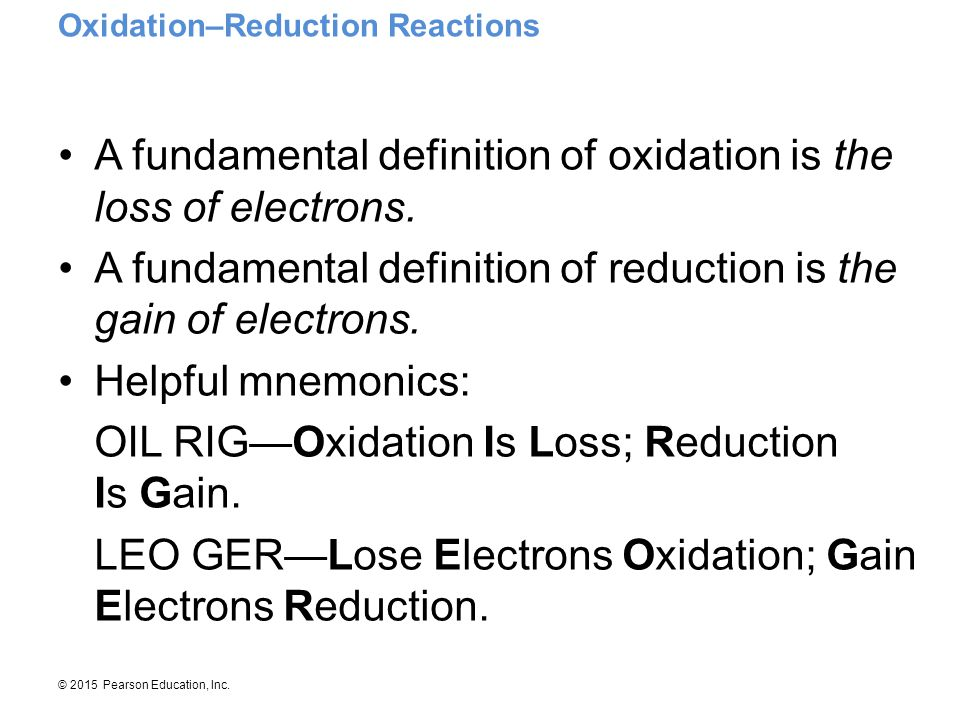 Oxidation–Reduction Reactions