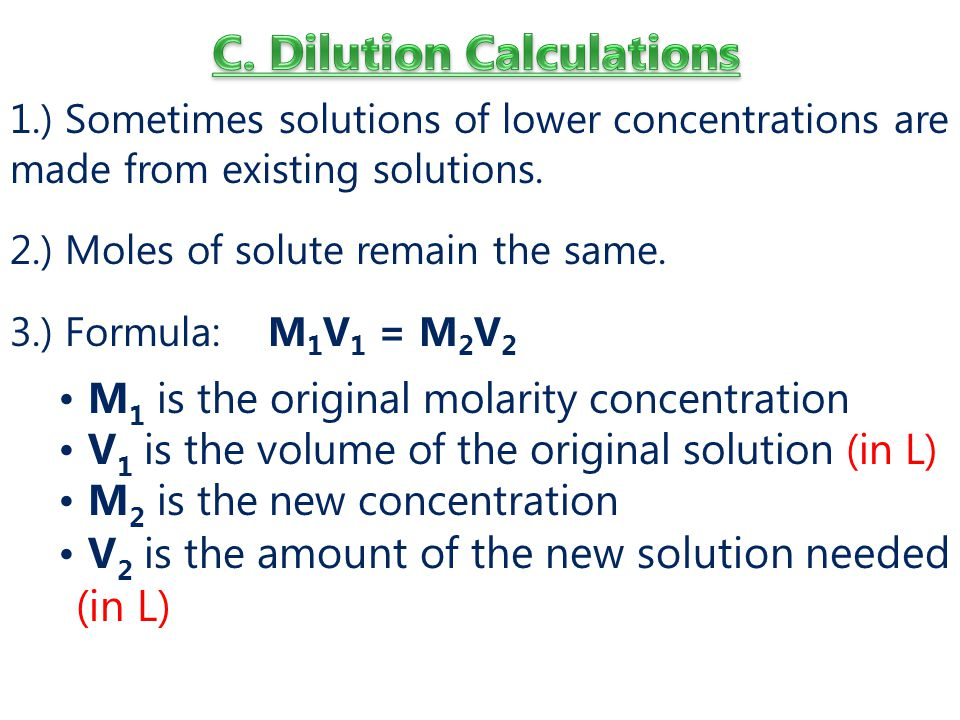 C. Dilution Calculations