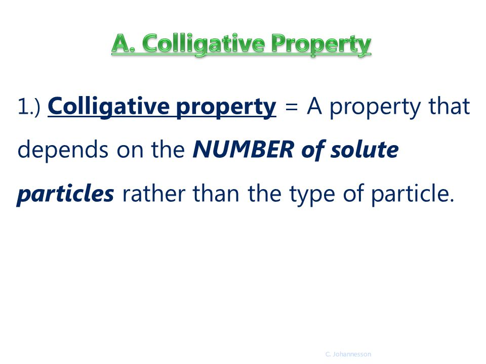 A. Colligative Property