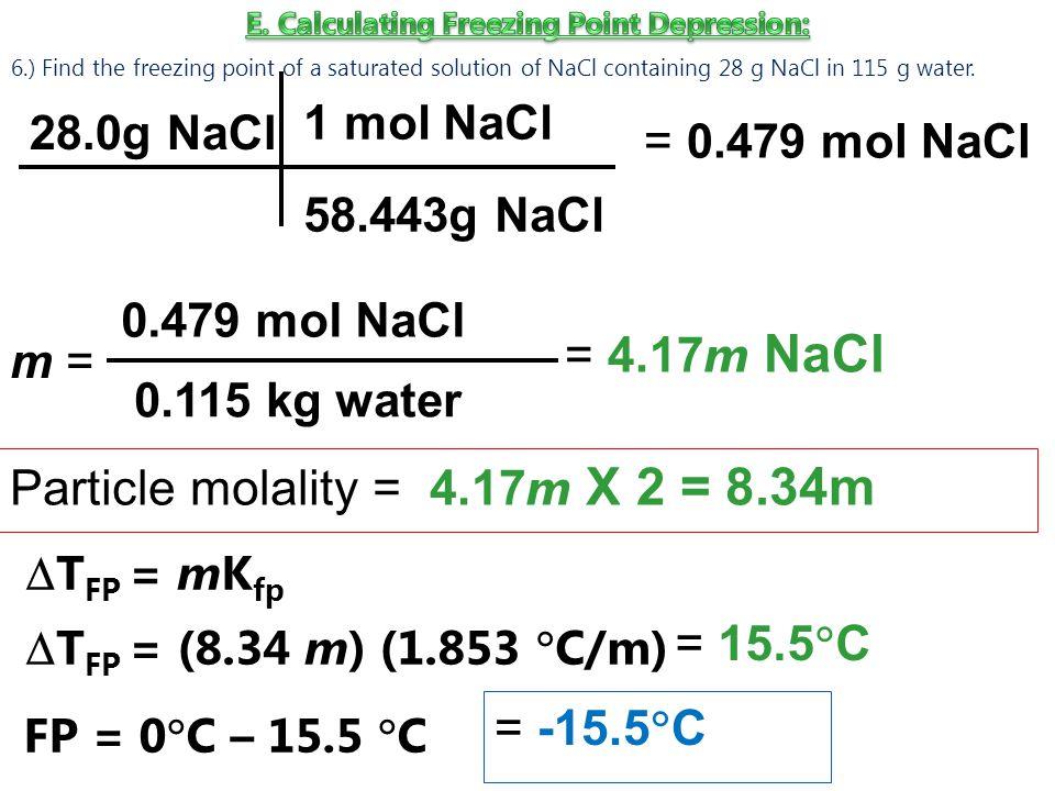 E. Calculating Freezing Point Depression: