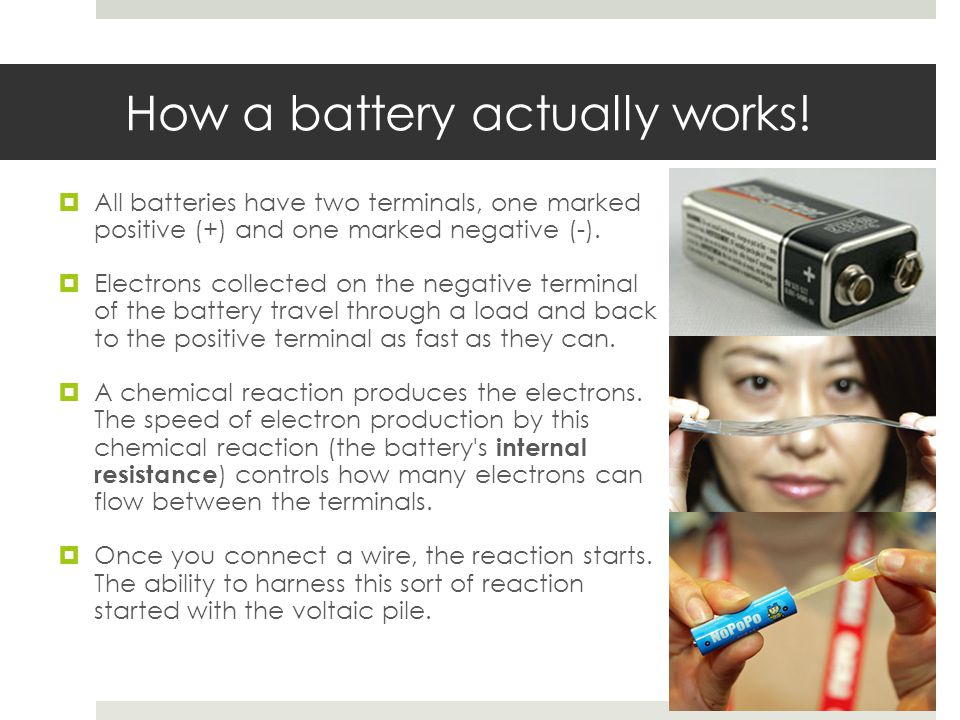 How a battery actually works!