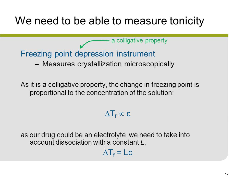 We need to be able to measure tonicity