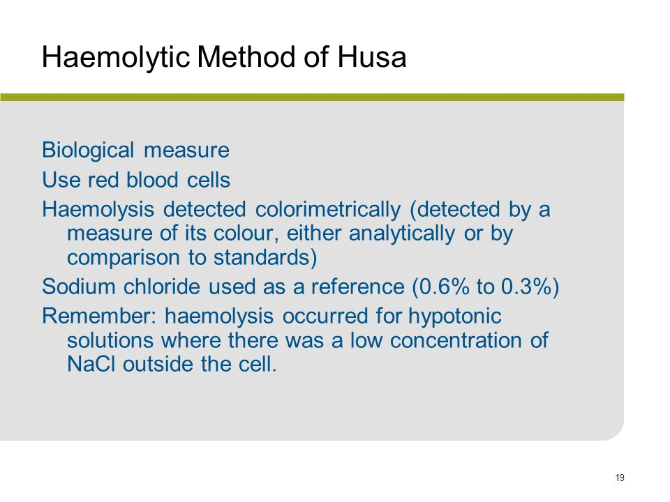 Haemolytic Method of Husa