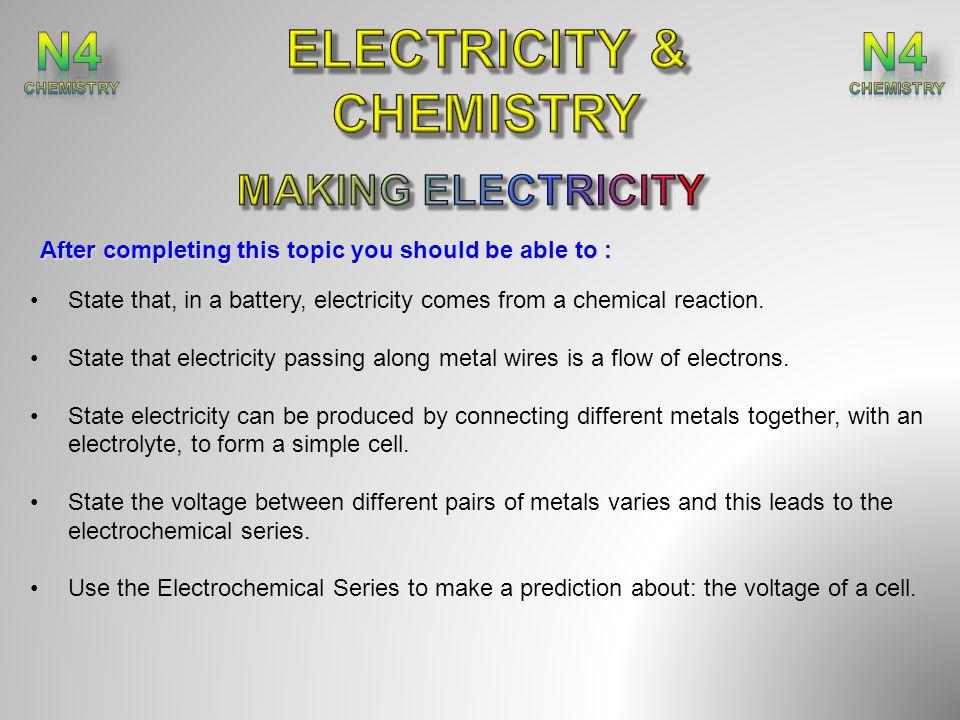 ELECTRICITY & CHEMISTRY