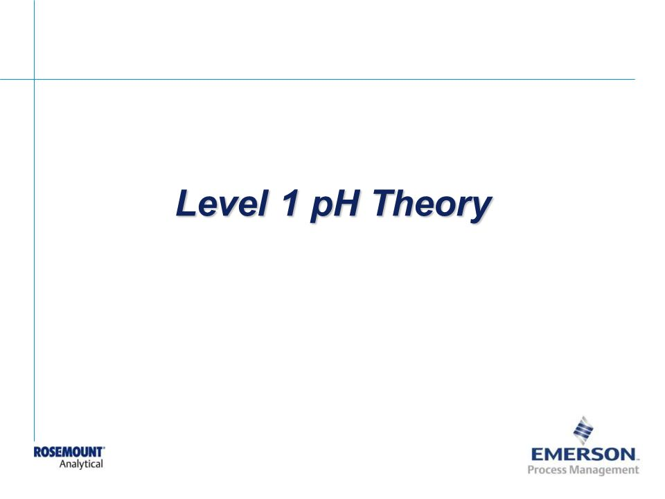 Level 1 pH Theory