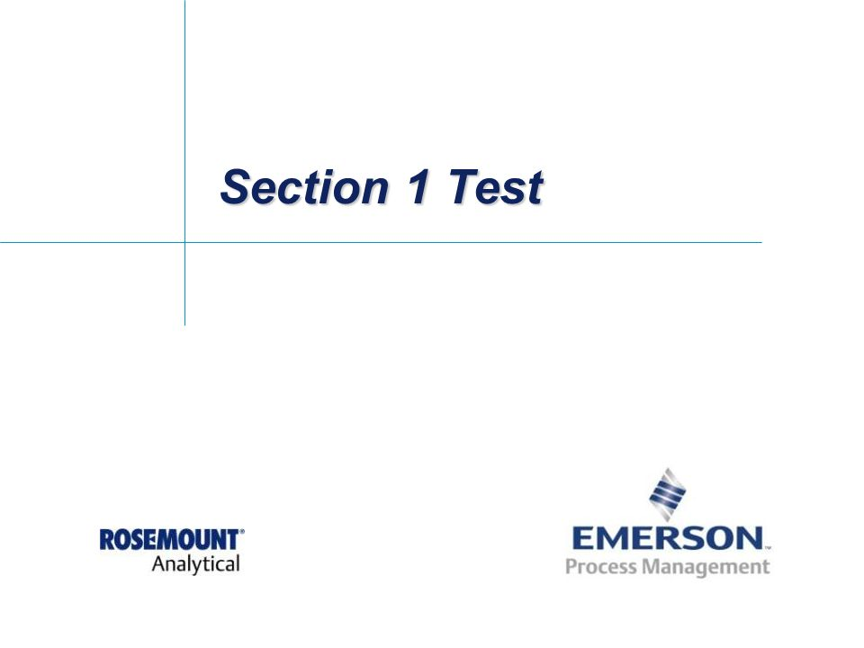 Section 1 Test
