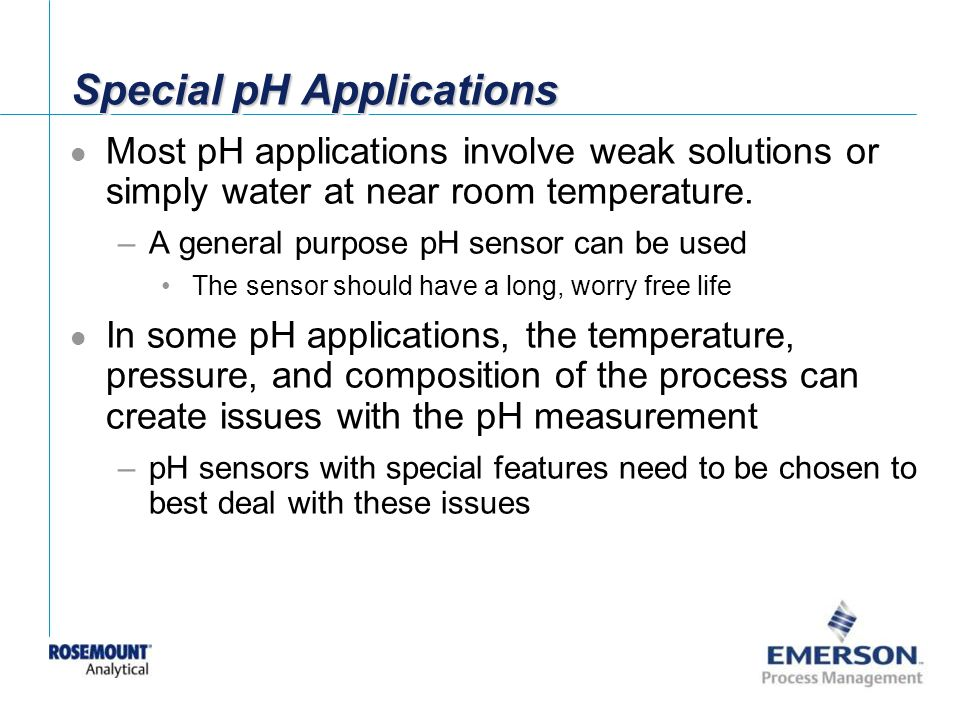 Special pH Applications