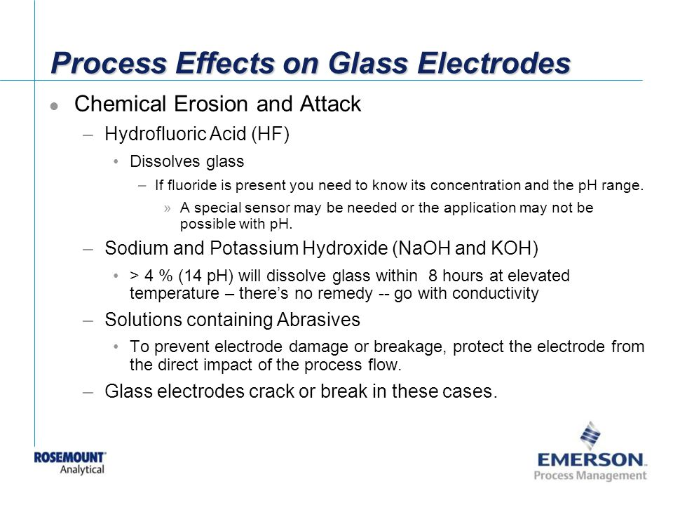 Process Effects on Glass Electrodes