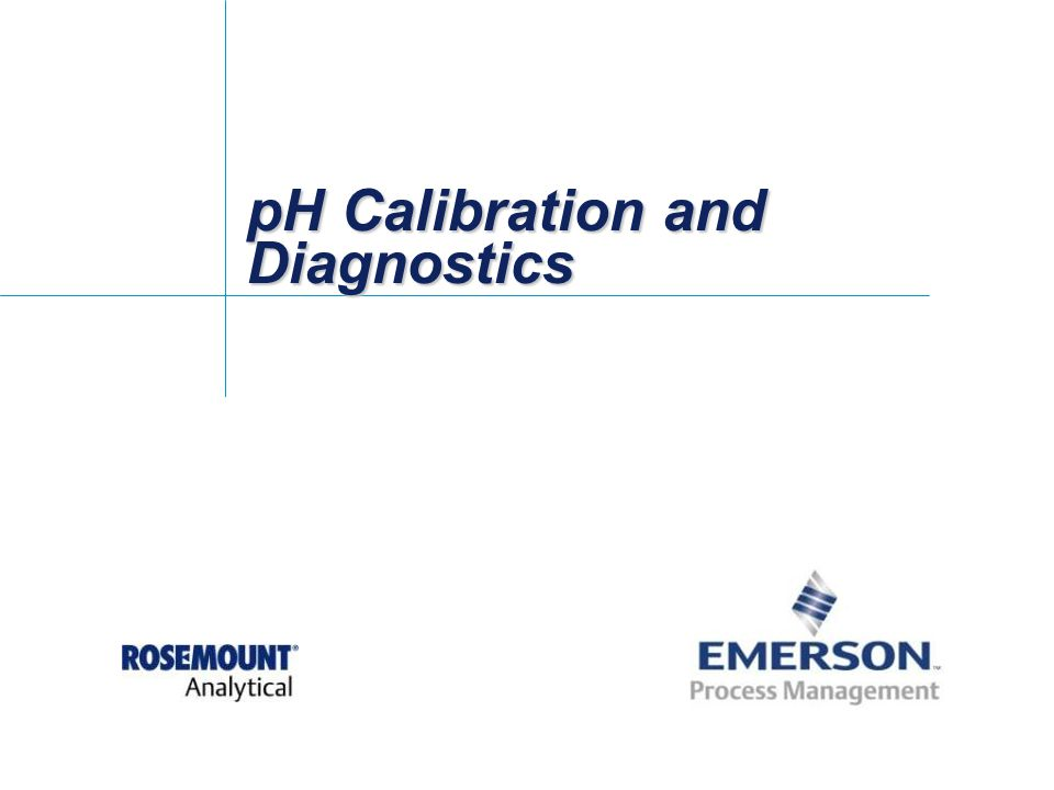 pH Calibration and Diagnostics