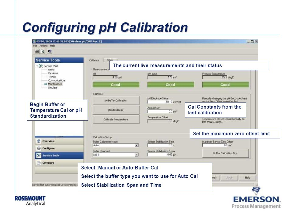 Configuring pH Calibration