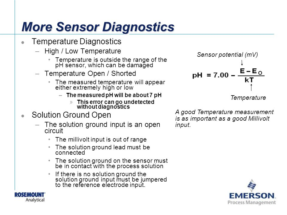 More Sensor Diagnostics